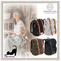 GASTON Casual Style Unisex A4 Backpacks
