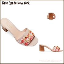 kate spade new york Other Check Patterns Open Toe Blended Fabrics Bi-color
