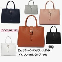 COCCINELLE Casual Style 2WAY Plain Office Style Elegant Style Handbags