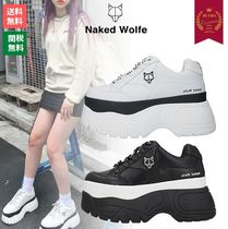 Naked Wolfe Platform Rubber Sole Casual Style Street Style Bi-color