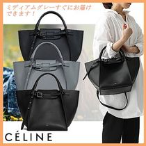 CELINE Big Bag Casual Style Calfskin Street Style 2WAY Plain Leather