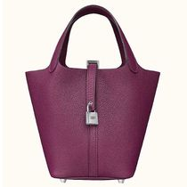 HERMES Picotin Lock Casual Style Plain Leather Elegant Style Formal Style