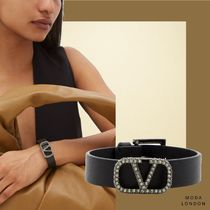 VALENTINO Bangles Leather Party Style Elegant Style Formal Style