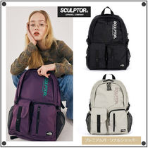 SCULPTOR Casual Style Unisex Street Style Backpacks