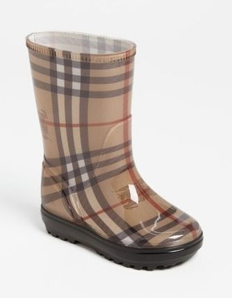 Burberry Unisex Kids Girl Rain Shoes
