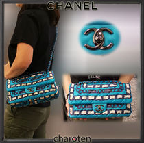 CHANEL ICON Casual Style Unisex 3WAY Bi-color Chain Party Style