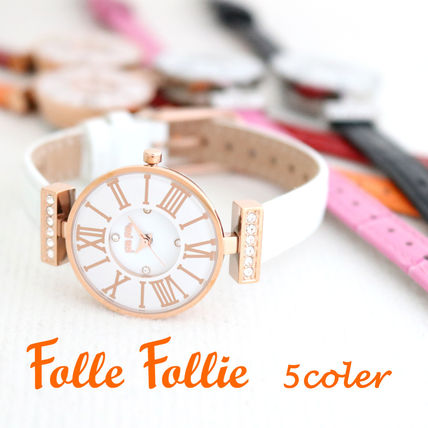 Casual Style Leather Quartz Watches Stainless Formal Style