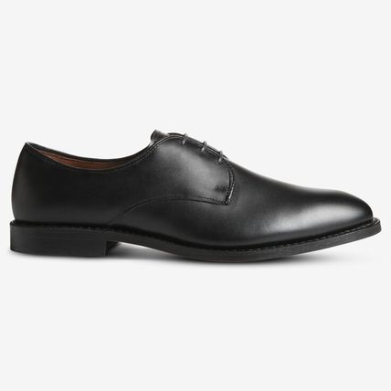 Plain Toe Street Style Plain Leather Handmade Oxfords
