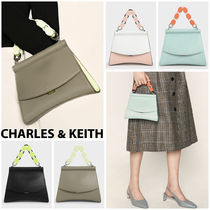 Charles&Keith Casual Style Faux Fur 2WAY Bi-color Chain Plain