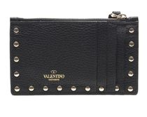 VALENTINO Street Style Leather Card Holders