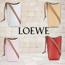 LOEWE GATE Casual Style Calfskin 2WAY 3WAY Bi-color Plain Leather