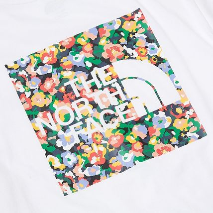THE NORTH FACE Crew Neck Crew Neck Pullovers Flower Patterns Unisex Street Style 5