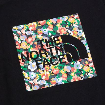 THE NORTH FACE Crew Neck Crew Neck Pullovers Flower Patterns Unisex Street Style 16
