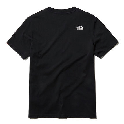 THE NORTH FACE More T-Shirts Unisex Street Style U-Neck Plain Short Sleeves Outdoor 3