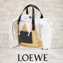 LOEWE Casual Style Calfskin 2WAY 3WAY Bi-color Plain Leather