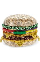 JUDITH LEIBER cheese hamburger crystal clutches