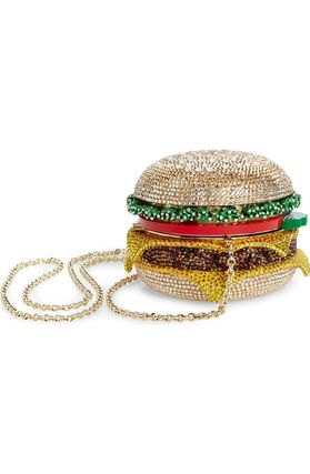 cheese hamburger crystal clutches