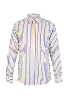 Stripes Long Sleeves Cotton Shirts