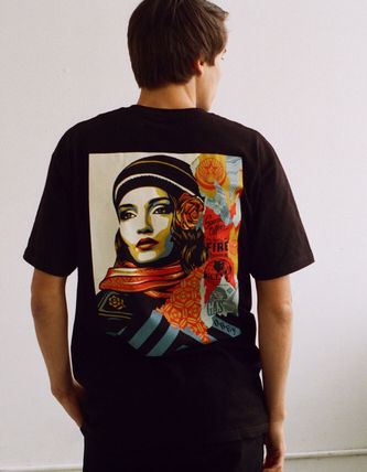 OBEY Street Style Cotton Short Sleeves Logo T-Shirts