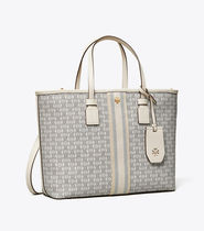 Tory Burch GEMINI LINK Leather Office Style Logo Totes