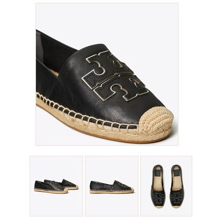 Tory Burch Casual Style Plain Leather Logo Flats