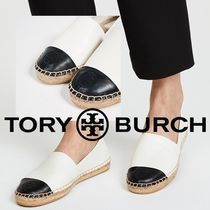 Tory Burch Casual Style Leather Logo Flats
