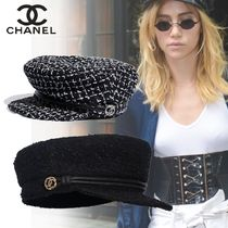 CHANEL Blended Fabrics Handmade Hats & Hair Accessories