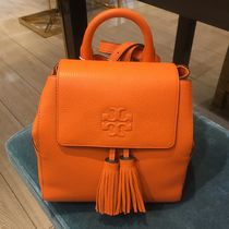 Tory Burch Casual Style Tassel 2WAY Plain Leather Backpacks