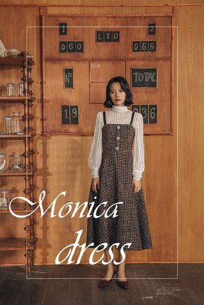 Other Plaid Patterns Casual Style Maxi A-line Tweed