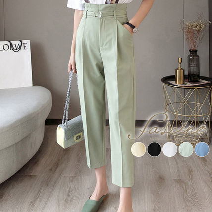 Casual Style Plain Long Office Style Short Length