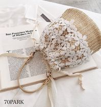 Flower Patterns Casual Style Blended Fabrics Street Style