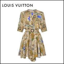 Louis Vuitton Flower Patterns Casual Style Silk Cropped Party Style