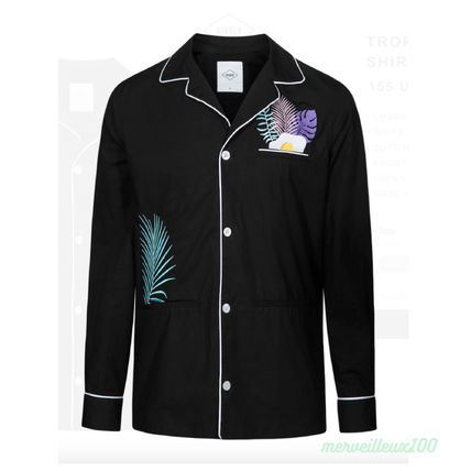Tropical Patterns Street Style Long Sleeves Cotton Shirts