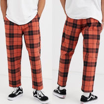 OBEY Printed Pants Other Plaid Patterns Street Style Bi-color
