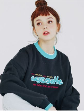 Unisex Street Style Long Sleeves Cotton Medium Oversized
