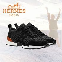 HERMES Casual Style Plain Low-Top Sneakers