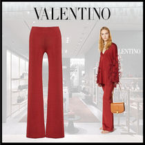 VALENTINO Plain Wide Leg Pants