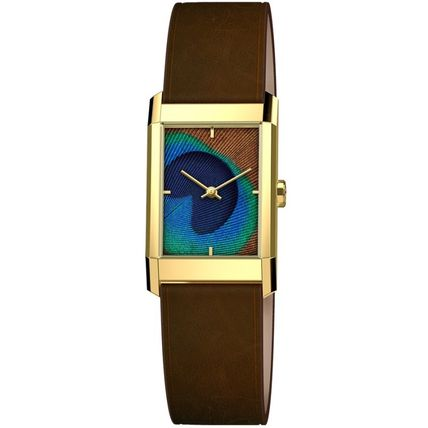 Casual Style Leather Square Quartz Watches Elegant Style