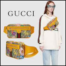 GUCCI Ophidia Flower Patterns Casual Style Unisex Canvas Blended Fabrics
