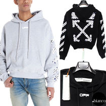 Off-White Pullovers Stripes Unisex Sweat Street Style Long Sleeves
