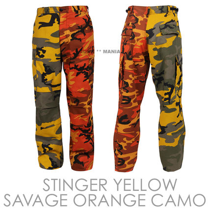 Camouflage Casual Style Unisex Street Style Pants