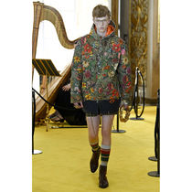 GUCCI Flower Patterns Street Style Long Python Military Parkas