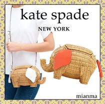 kate spade new york 2WAY Other Animal Patterns Straw Bags