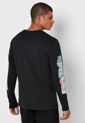 HUF Long Sleeve Unisex Street Style Long Sleeves Plain Cotton 5