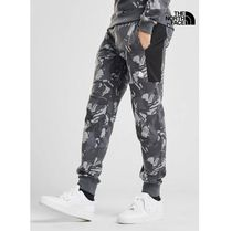 THE NORTH FACE Printed Pants Camouflage Sweat Street Style Cotton Logo