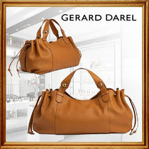 GERARD DAREL Casual Style Leather Party Style Office Style Elegant Style