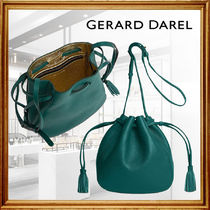 GERARD DAREL Casual Style Tassel 2WAY Leather Party Style Purses