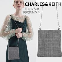 Charles&Keith Casual Style 2WAY Party Style With Jewels Elegant Style