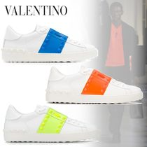 VALENTINO Studded Street Style Plain Leather Sneakers