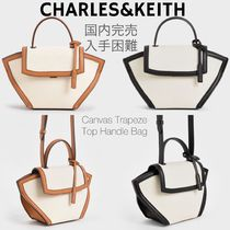 Charles&Keith Casual Style Canvas Faux Fur Blended Fabrics 2WAY Plain